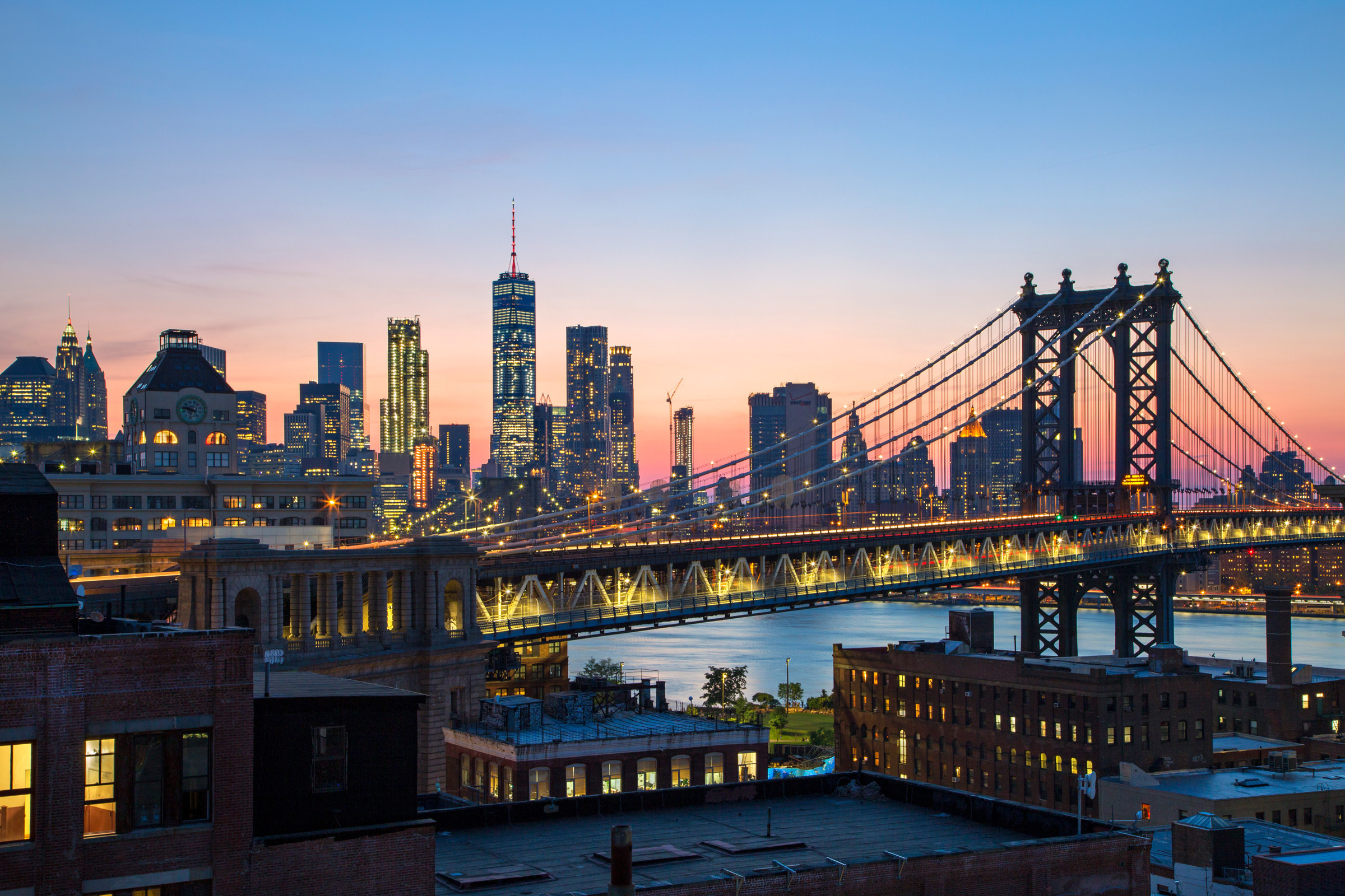 Rooftop views: Manhattan Bridge